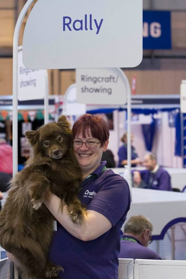 Rachel and Eeva at Crufts